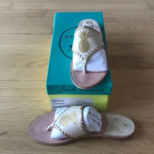 BRAND NEW IN BOX Jack Rogers Pineapple Sandals 6